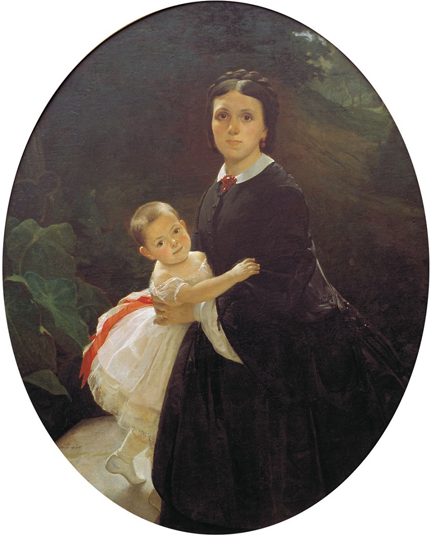 Портрет Шестовой с дочерью Государственная Третьяковская галерея, Москва