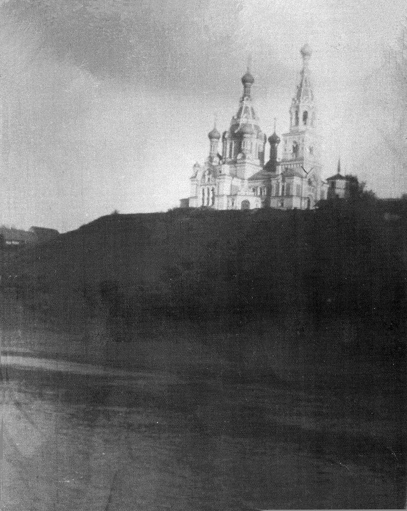 Окрестности Луги. Бутково. Вид с реки на Покровскую церковь