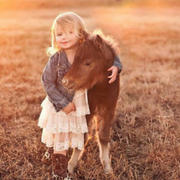 девочка и лошадка