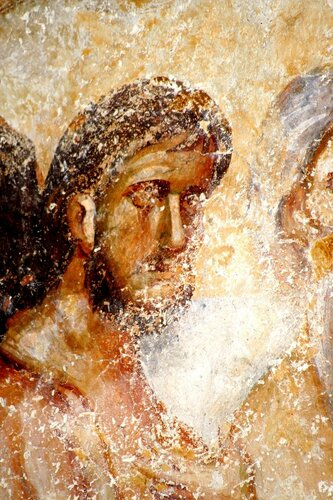 Святые Сорок Мучеников Севастийских. Фреска церкви Святой Троицы в монастыре Сопочаны, Сербия. XIII век.