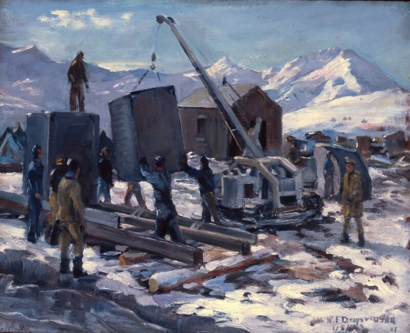 William F. Draper - Pontoon Assembly - Aleutian Base (1942)