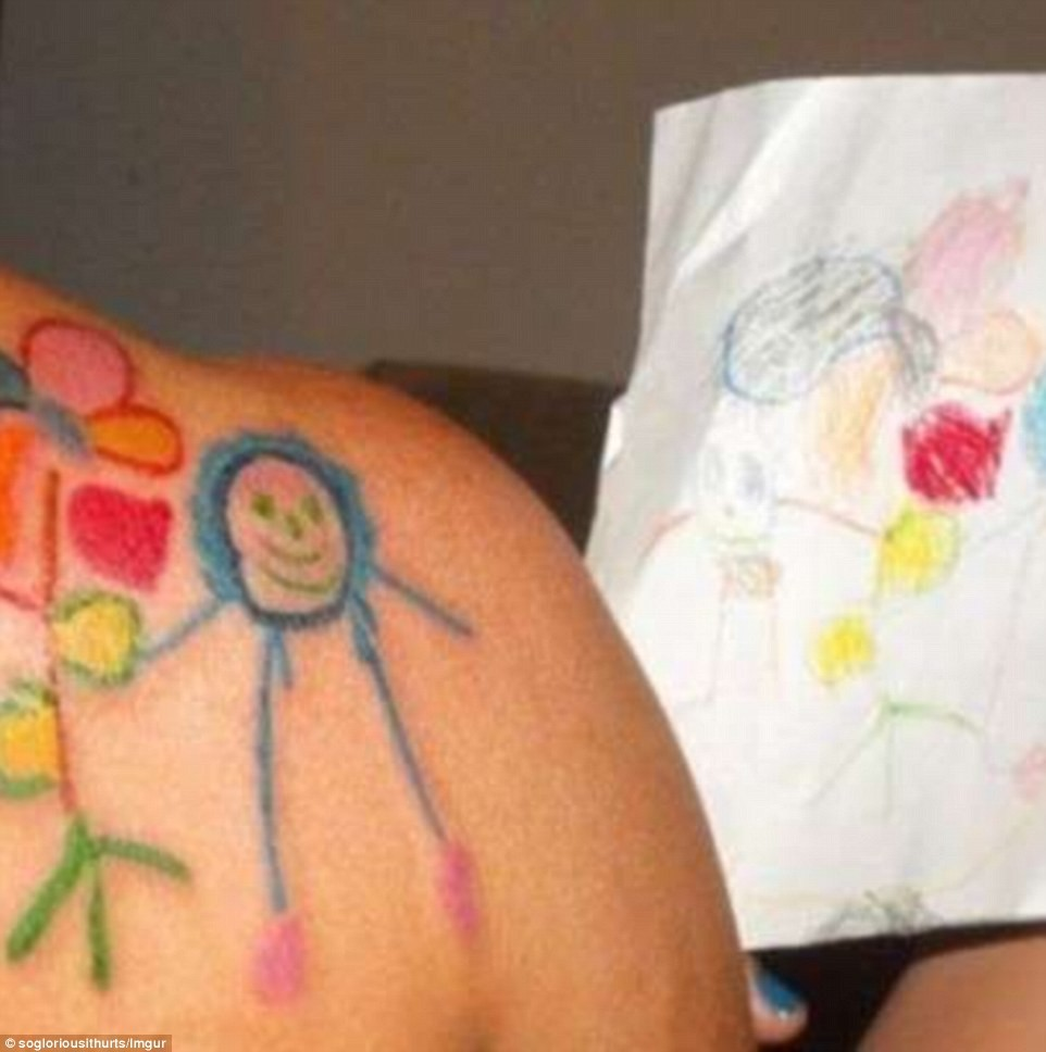 А эта татуировка была немного болезненной, но она того стоила!