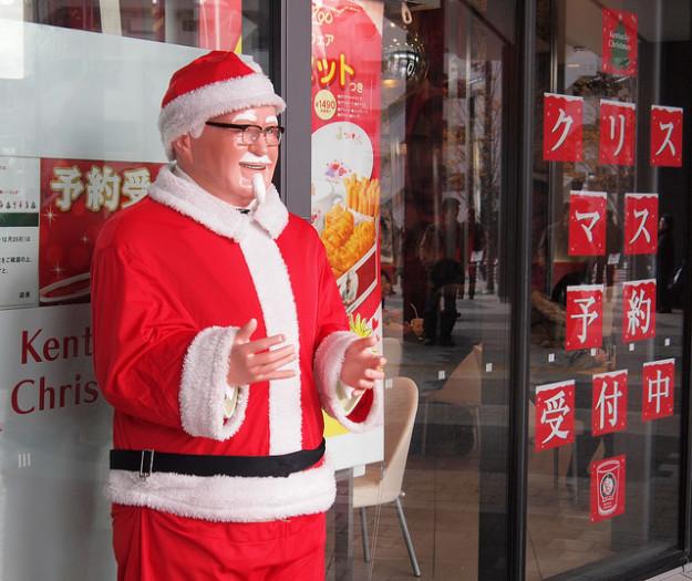 Япония В 70-е годы в Японии сеть KFC рекламировала жареную курицу в качестве традиционного рождестве