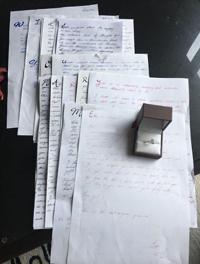 «Один парень отправил своей девушке 14 писем, которые содержали в себе секретное послание: первые бу