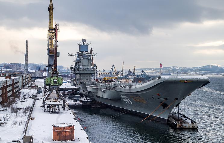 Нафлоте поведали о вероятных изменениях впроцессе ремонта «Адмирала Кузнецова»