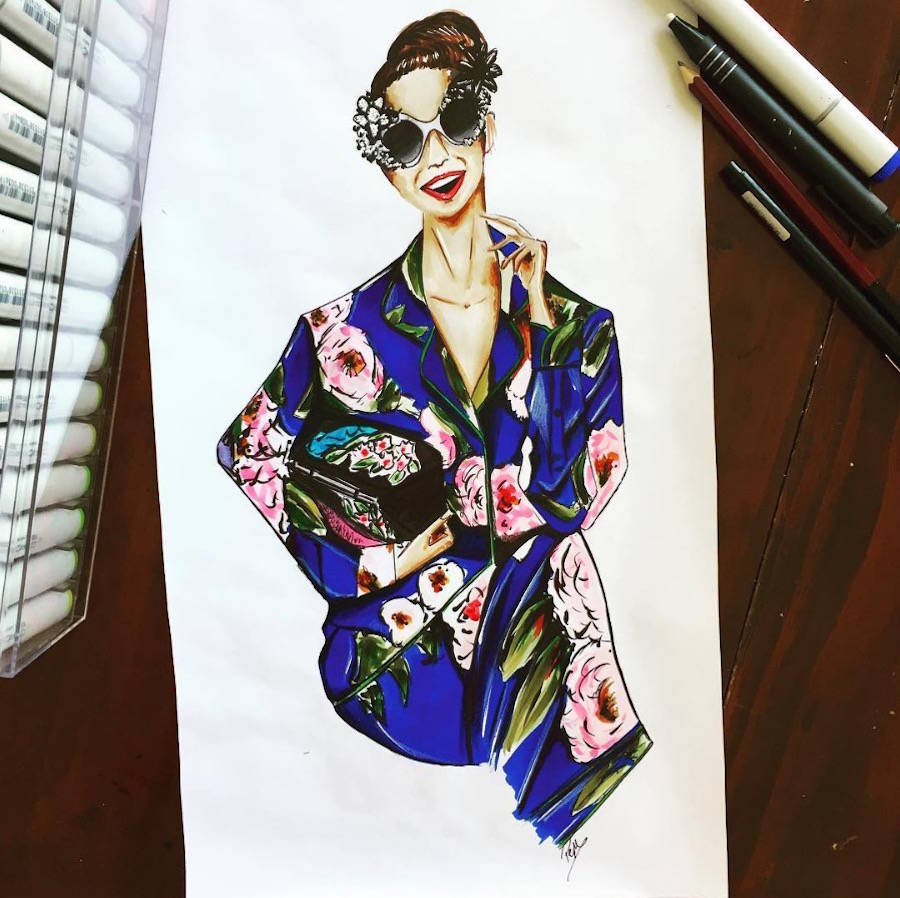 Stylish Illustrations of High Fashion Collections