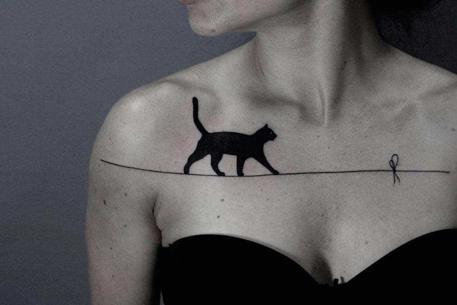 Hybrid Wildlife Black and White Tattoos