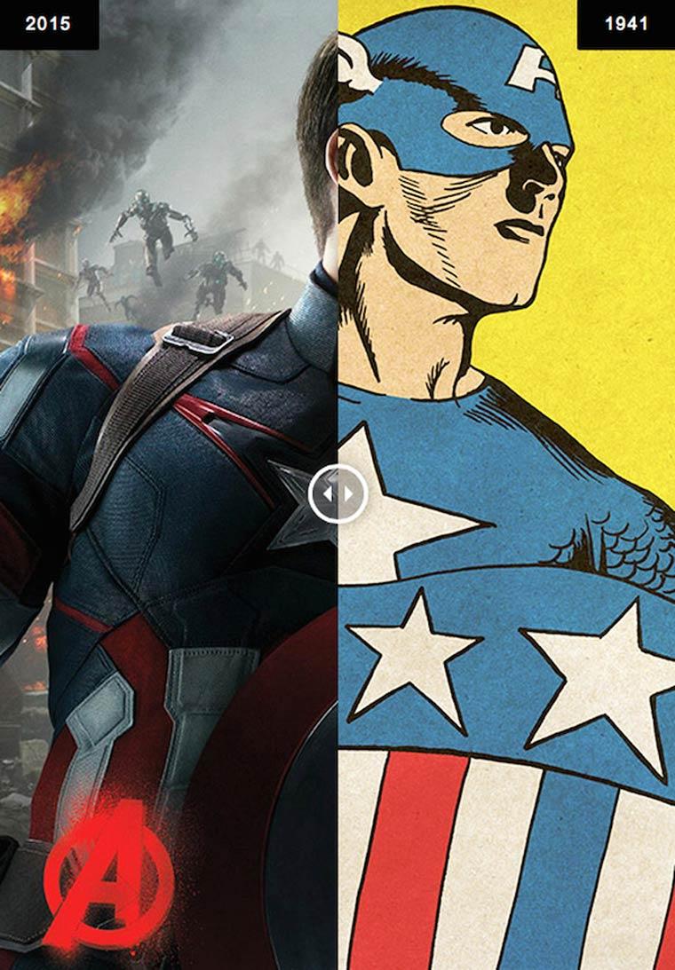Avengers - Les super-heros modernes rencontrent le style des comics vintage