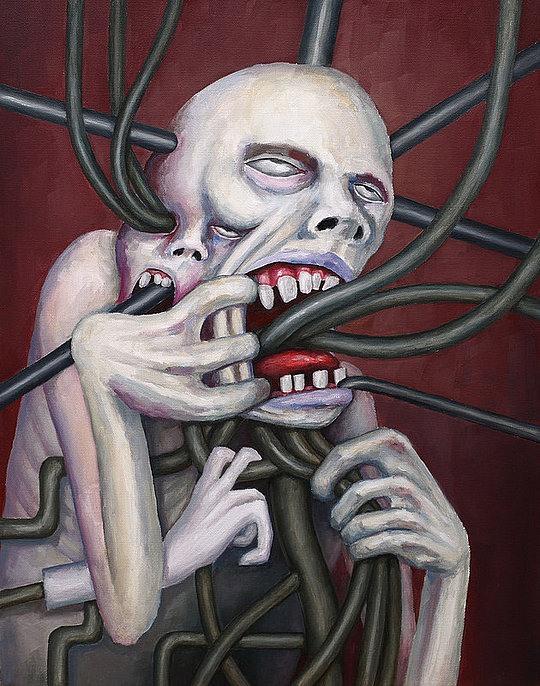 Twisted Illustrations by Serapion Nasosov