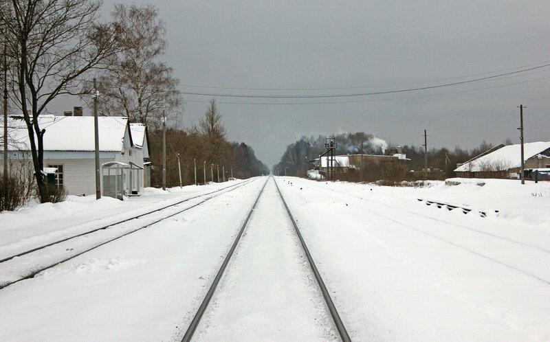 Станция Высокое, вид на Ржев