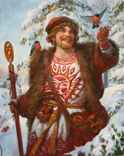 Как встречали праздник Коляда славяне