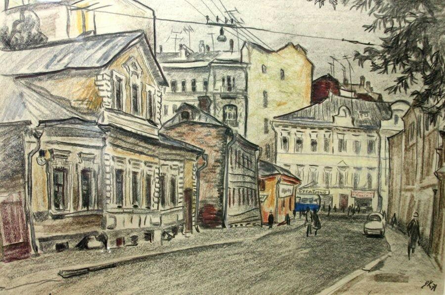 Е. Куманьков. Малый Николопесковский переулок. 1971 г..jpg