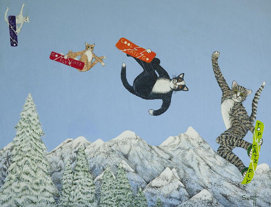 коты сноубордисты фото морякам нужно