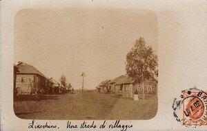 Окрестности Валдая. Село Валдайка. Сельская улица