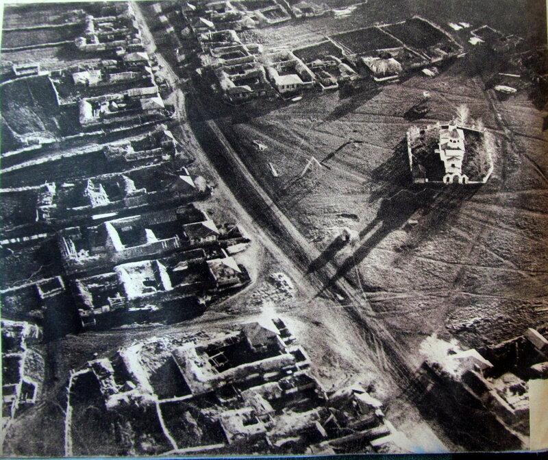 Вид с птичьего полета на уральскую деревню 1931 г.