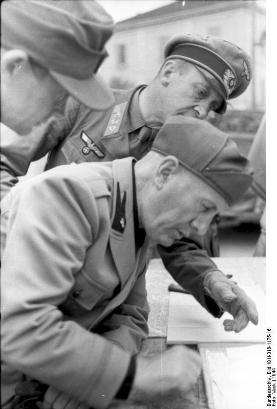 Italien, Benito Mussolini mit deutschem General