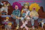"""Ишмухаметовы Ксения 5 лет, Андрей (2 года ) и Эмилия (2 года),  """"Наш любимый клоун""""  Наши дети со своей любимой куклой клоуна, которую подарили старшей дочери во время колядок в прошлом году. Приехав домой кукла стала любимой игрушкой для всех, с ней и"""