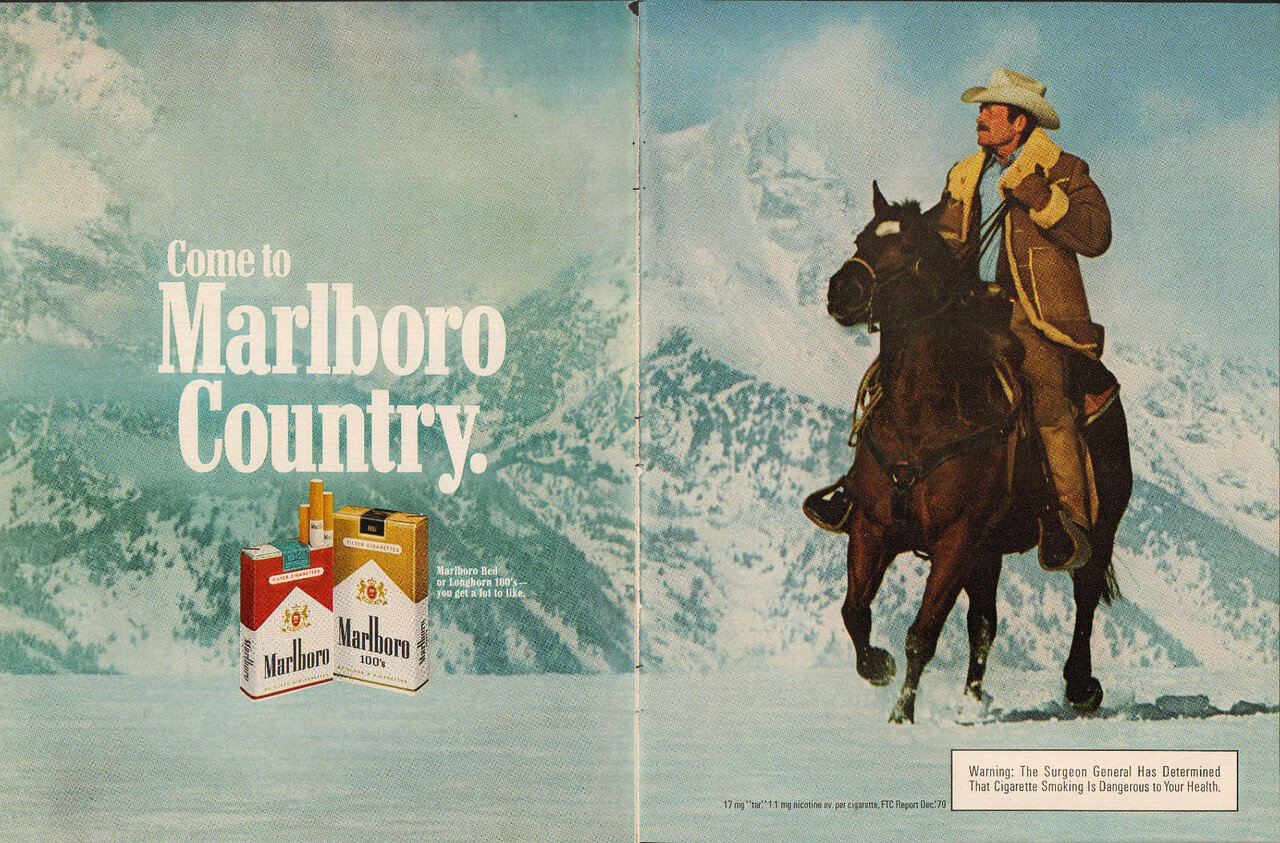 the marketing advertisements of the marlboro super c cuigarettes The second blow came from anti-tobacco litigation, which resulted in limits being placed on cigarette advertising in magazines and on radio, television, and billboards because of the negative press surrounding the marlboro man and tobacco in general, philip morris discontinued the campaign in 1999.