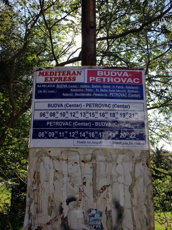 расписание автобусов Будва-Петровац