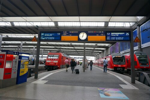 Вокзал Хаубанхов. Мюнхен