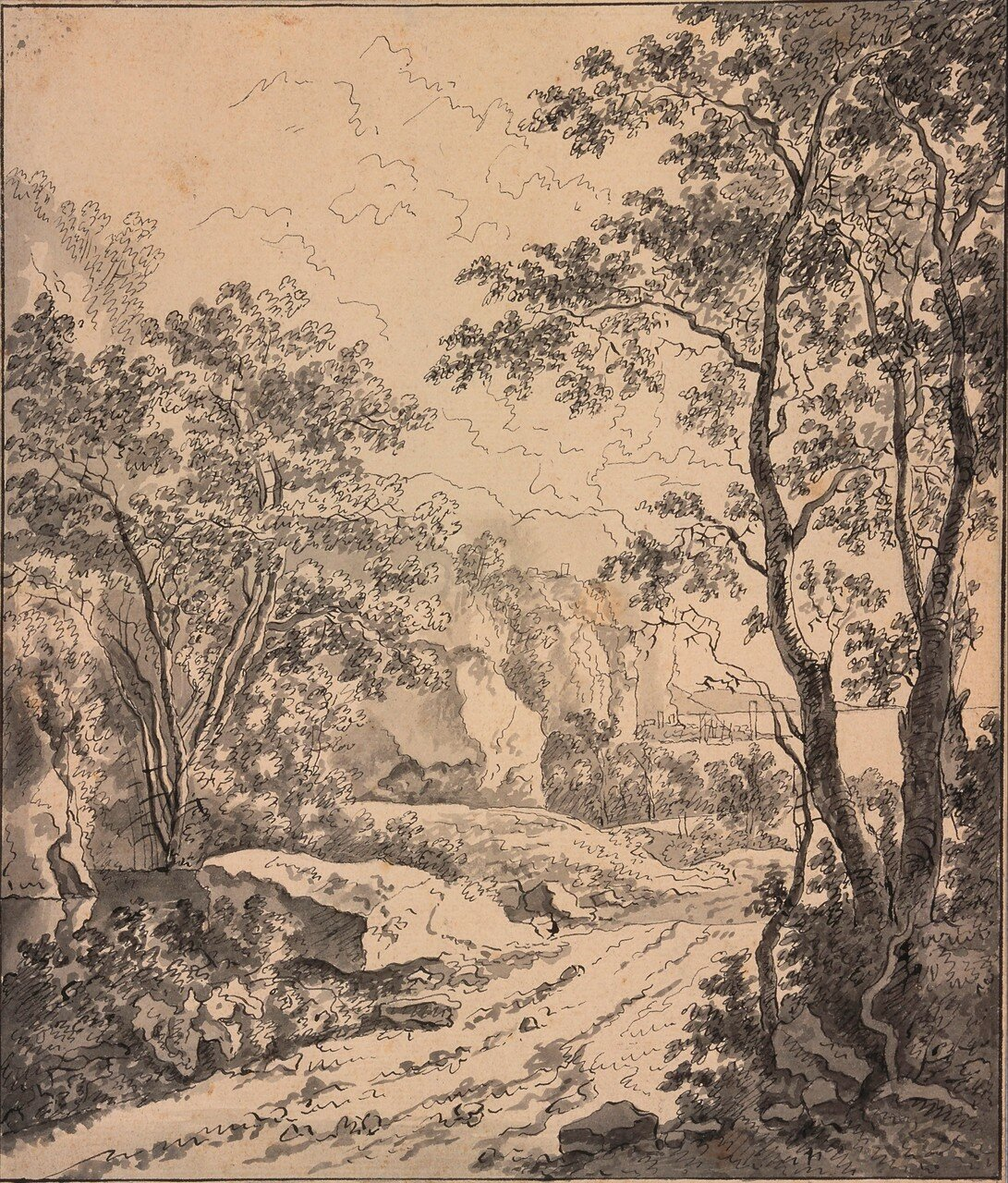 Итальянский пейзаж между Анконой и Синигаллией (1645) (241 х 206 мм) (Утрехт, Центральный музей).jpg