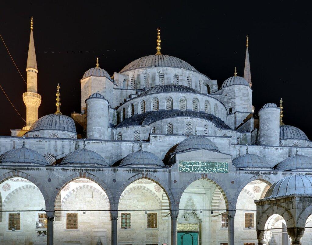 Ночной Стамбул. Мечеть Султанахмет (Sultanahmet Camii)