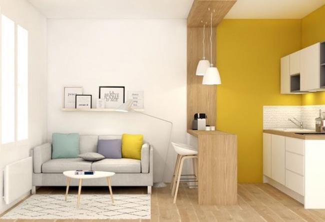 © lanoemarion  Чтобы разделить однокомнатную квартиру, иногда достаточно ирезкого перехода в