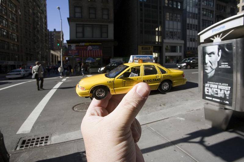 4. Знаменитое желтое такси Нью-Йорка.