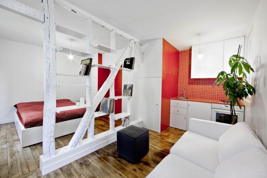 Идеи для оформления однокомнатной квартиры (20 фото)