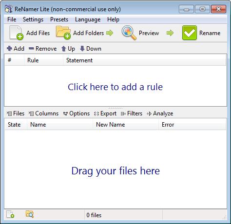 Переименование файлов в бесплатной программе ReNamer от den4b