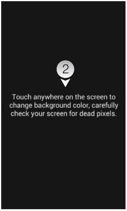 Для проверки на битые и горячие пикселы подойдет приложение Dead Pixel Test