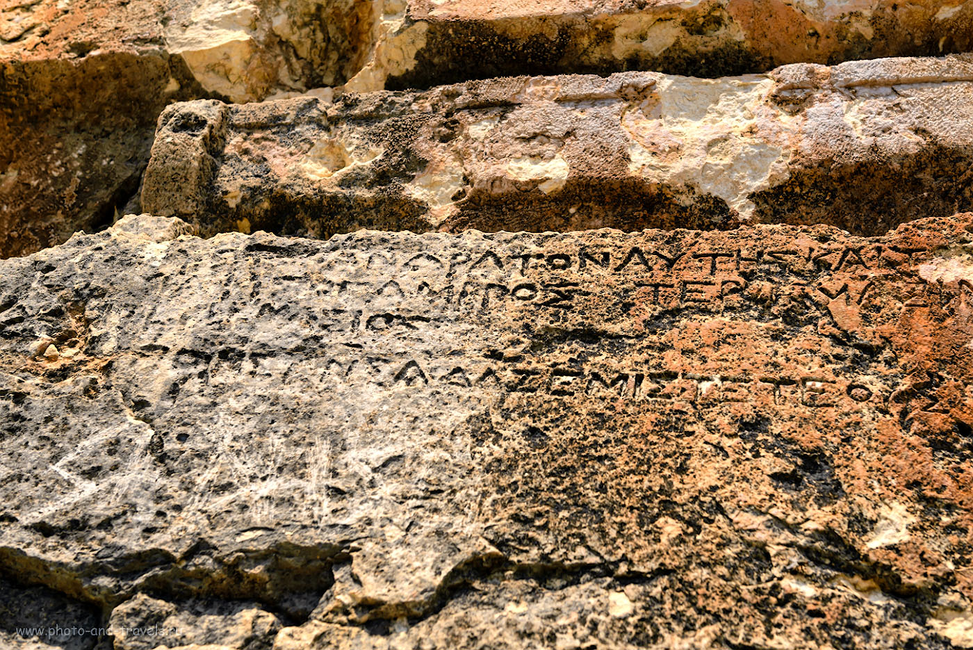 Фотография 18. Греческие надписи на скале в Адам Каялар. 1/1000, 6.3, 320, 44.