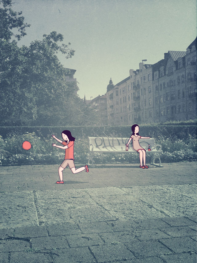 Illustrations on Photography by Johan Thornqvist