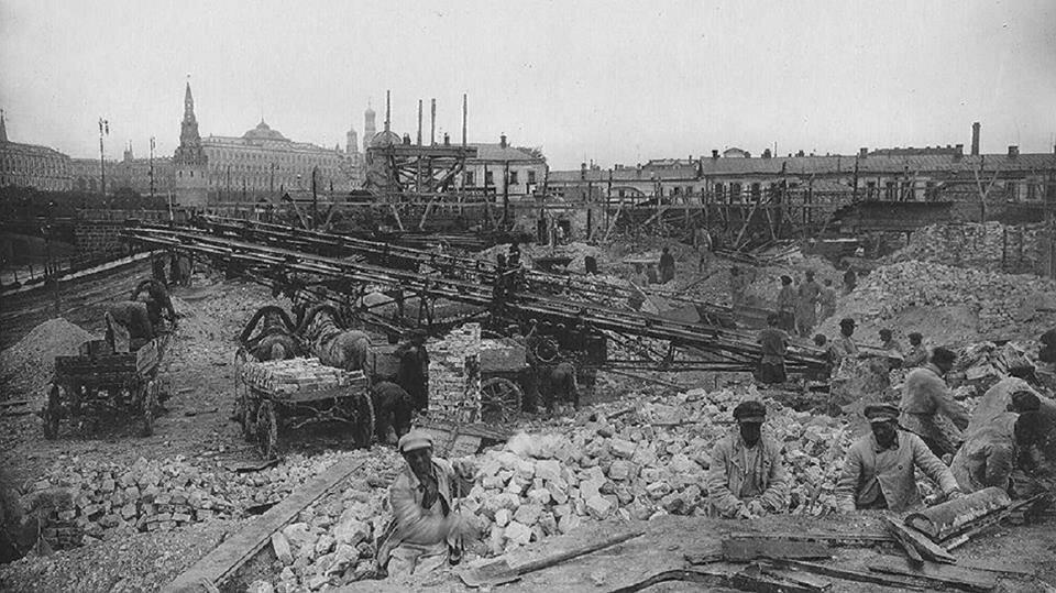 506135 Разбор завалов после сноса зданий для строительства Дома На набережной 1927.jpg