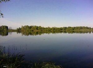 Красивое утро на реке..