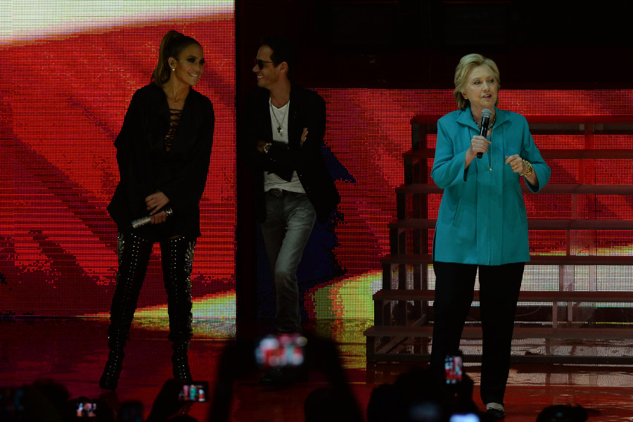 Jennifer Lopez And Ex-Husband Marc Anthony Both Perform Live In Support Of Hillary Clinton In Miami