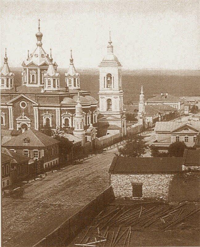1869 Коломна. Брусенский женский монастырь. Крестовоздвиженский собор.jpg