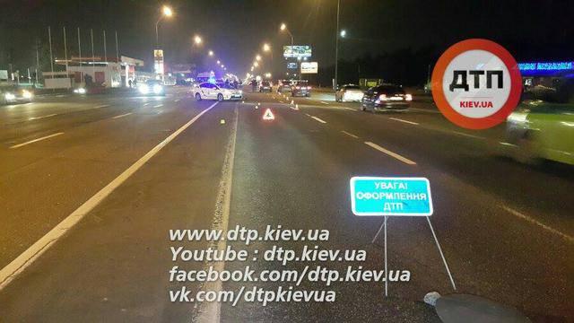 Пешеход-нарушитель попал под колеса на столичном проспекте. ФОТОрепортаж+ВИДЕО