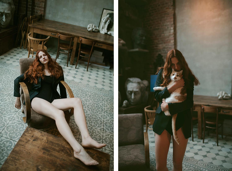 девушки и котики