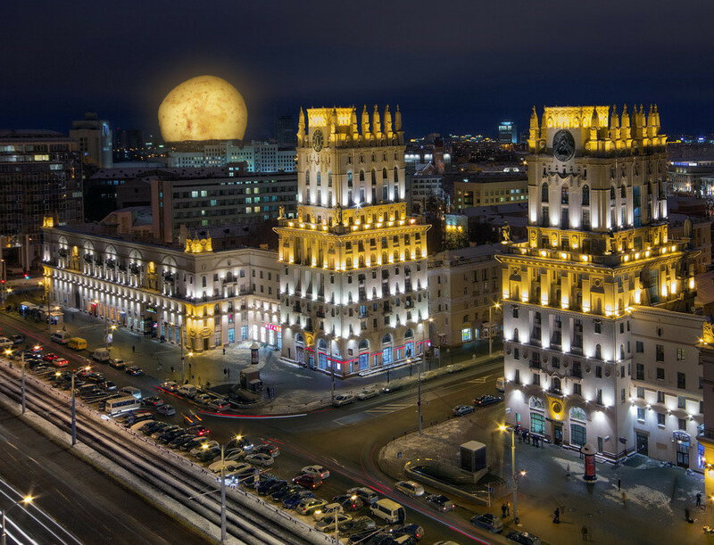 Суперлуние в Минске
