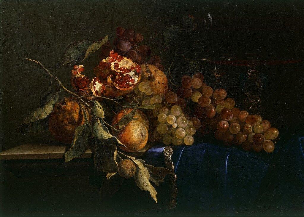 Натюрморт с виноградом и гранатом (Музей Палатина, Флоренция).jpg