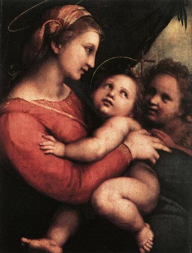 Madonna della Tenda,  Рафаэль Санти