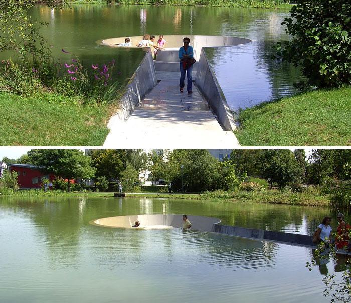 Парк в городе Фёклабрук, Австрия.