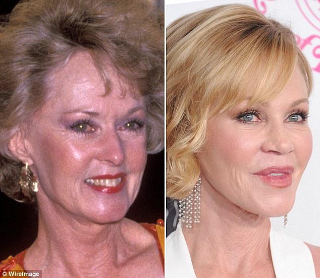 Актрисы Типпи Хедрен и Мелани Гриффит, 59 лет.