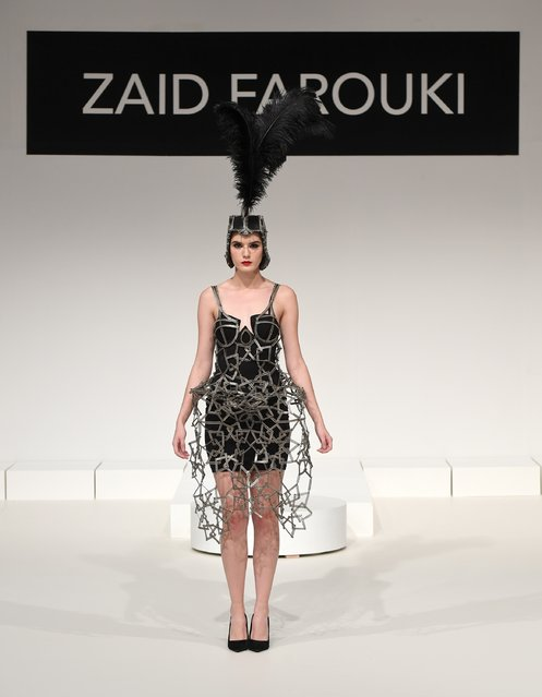 A model walks the runway during the Zaid Farouki Presentation at Fashion Forward Spring/Summer 2017