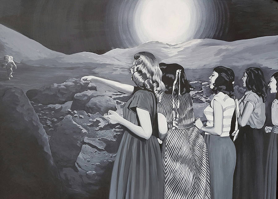 Vintage-like Surreal Paintings by Anna di Mezza