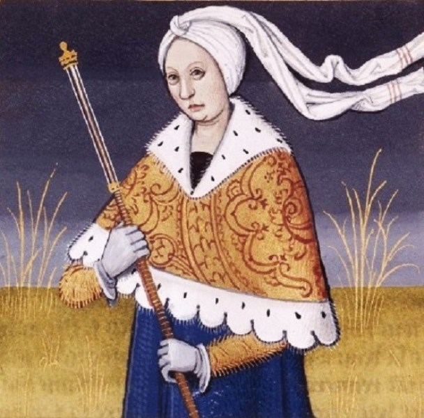 Lavinia, fille de Latinus (roi des Latins) et d'Amata et _pouse d'_n_e (Lavinia, daughter of Latinus and Amata and wife of Aeneas) -- BnF Fran_ais 599 .jpg
