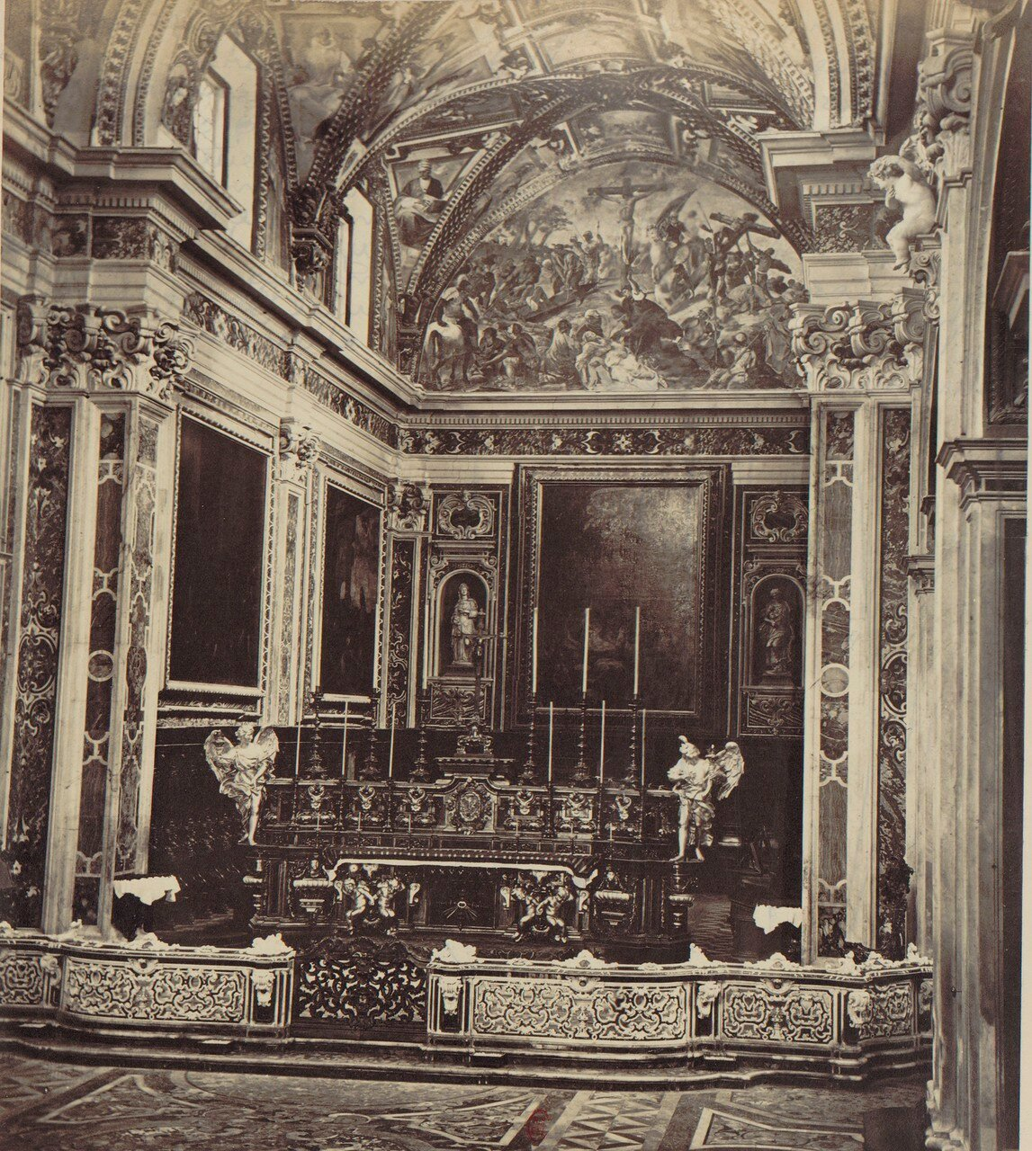 65. Картезианский монастырь святого Мартина. Интерьер церкви