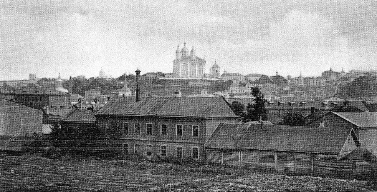 Вид на город с Пятницкого виадука. 1907