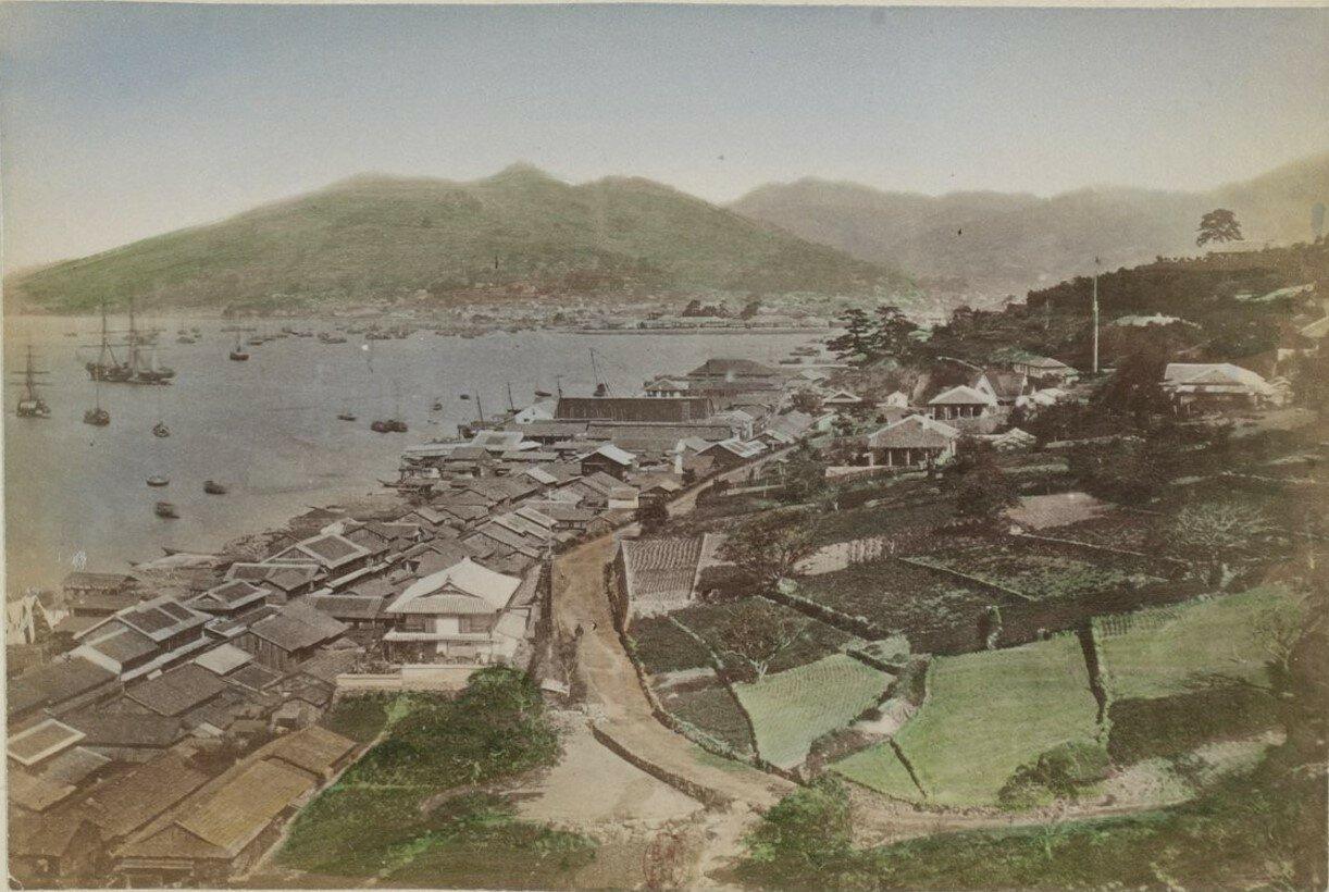 Нагасаки. Вид на город и гавань